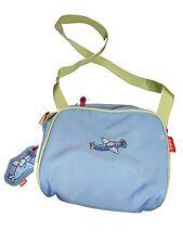 Scout tolle Kindergarten Tasche hellblau mit Flugzeugstickerei !!