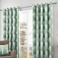 Fusion Woodland Trees 100%25 Cotton Lined Eyelet Curtains
