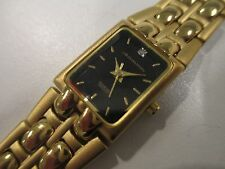 A38 NEW JB CHAMPION Gold WOMEN'S Stainless Steel Band WATCH Square VINTAGE Dress