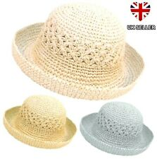 876c2156a5204 NEW LADIES WOMENS GIRLS CRUSHABLE PACKABLE SUMMER STRAW STYLE SUN HAT