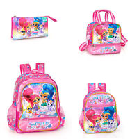 Shimmer and Shine Girls Deluxe Backpack Lunch Rucksack Travel School Bag WISH