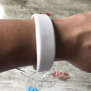 MIFARE Classic 1K White Silicone Wristbands (pack of 5)