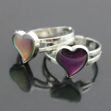 Popular Heart Colour Changing Mood Ring Adjustable One Size For Ladies/Child New