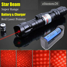 900 Miles Red Laser Pointer Star Visible Beam Lazer+Rechargeable Battery+Charger