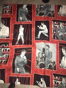 Elvis King Fabric Panel Red Black White Cranston Bold