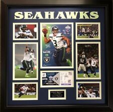 Russell Wilson Signed NFL Seahawks Framed Programe Ticket Inc C.O.A Photo Proof