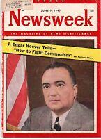1947 Newsweek June 9 - Canada Doukhobors; Homosexuals in uniform; J Edgar Hoover