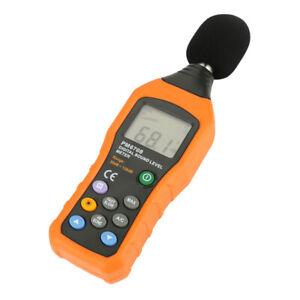 Fonometro 30-130dB LCD Digital Audio Decibel Sound Noise Level Meter Tester Con