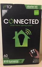 TCP Smart Home Lighting System 810 Lumens Control Lights Remotely Kit 2 Bulbs