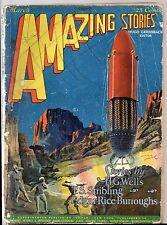 Mar 1927 Edgar Rice Burroughs! AMAZING STORIES 25c PULP MAG Hugo Gernsback WELLS