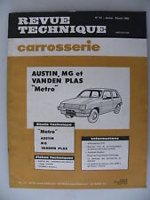 revue technique automobile RTA carrosserie AUSTIN, MG , VENDEN PLAS Metro