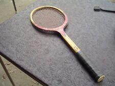 Vintage Garcia Cragin Competition C-44 Wood Tennis Racquet w 4 3/8L Leather Grip