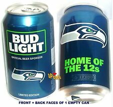 2017 NFL KICKOFF SEATTLE SEA-HAWKS BUD LIGHT BEER CAN FOOTBALL WASHINGTON SPORTS
