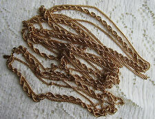 "VINTAGE MONET FLAPPER STYLE 55"" 3 CHAIN ROPE NECKLACE goldtone"