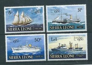 "Sierra Leone SG640-643 1980 ""London '80"" Unhinged Mint"