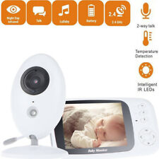 """3.5"""" Baby Monitor 2.4GHz LCD Wireless Audio Talk Night Vision Digital Video View"""