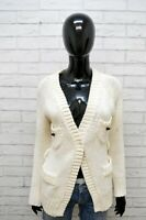 Cardigan Donna GAS Felpa Taglia 44 Maglione Pullover Maglia Shirt Woman Casual