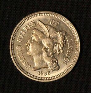 1866 3c Three Cent Nickel - Free Shipping USA