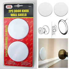 8Pc Door Knob Wall Shield Round White Self Adhesive Protector Prevents Holes
