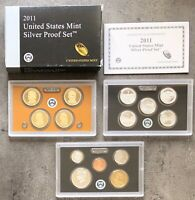 USA 2011 SILBER Proof Set San Francisco PP ATB Quarter President. Dollar 1c-$1