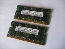 2 GB (2 x 1 GB) DDR2 PC2-5300 PC5300 Laptop RAM MEMORIA HYNIX abbinato COPPIA 2Rx8