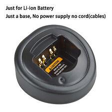 Base no power supply for Motorola GP344 Walkie Talkie Li-ion Battery Charger