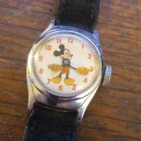 timex walt disney mens mickey mouse watch wind up 1969 vintage