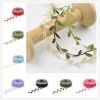"3 Rolls Dillards Trimmings Wired Ribbon Garland Christmas 2""x30' Burgundy Lot 3"