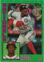 2019 Topps Update VICTOR ROBLES Silver Pack 1984 Green Refractor /99 Nationals