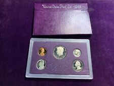 1985 United States Mint Proof Set Uncirculated Coins Box and Display Case