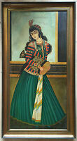 20th century persian school oil painting on canvas signed at the back framed