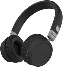 KITSOUND HARLEM OVER EAR HEADPHONES WIRELESS 30 HOURS PLAYTIME BLACK SILVER