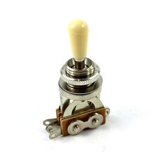 Nickel/Cream Short Straight 3-way Pickup Toggle Switch for Guitar EP-0066-00C