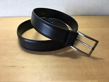 Used - Belt Cinturón JOFRÉ - Black Leather Piel Negra - 92 x 3,5 cm - Usado