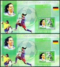 Congo 2006 MNH Perf + Imperf  MS, Sports, Football, Ronaldinho, Football Soccer