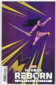 HEROES REBORN #6 (2021) 1ST PRINTING VEREGGE 1:50 VARIANT COVER MARVEL