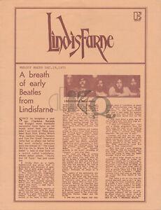 Lindisfarne - 1971 [USA] - Press Release