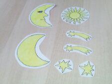 Window Color Fensterbild Sonne  Mond und Sterne nachtleuchtend Nr.5