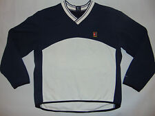 Nike Mens Pullover Sweater Long Sleeve Shirt Thick Blue White Athletic Sz Small