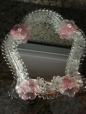 Vintage Murano Italy Ornate Table Mirror