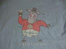 The Beef Sumo Cartoon Show Blue T Shirt Men's Size XL