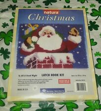 Exclusive santa TO ALL A GOOD NIGHT Christmas Natura Latch Hook Kit rug #XR105