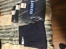 NWT Lot of Old Navy Boys Uniform Skinny Ajuste Pants Size 8 2 Navy 2 Black