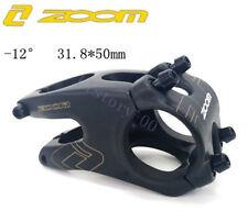 ZOOM MTB Road FR AM XC Bike bar Short Stem -12° handlebar stems 28.6*31.8*50mm