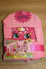 New Shopkins Hooded Towel in Pink 100% Cotton
