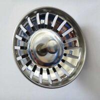Dual Function Basket Stainless Steel Kitchen Sink Strainer Waste Plug-UK Chris