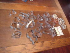 New listing Cookie Cutters Lot of 25, Various Designs, Christmas w/Recipes, Aluminum & Tin