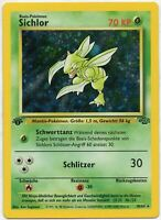 Pokemon Sichlor Holo 1.Edition 10/64 Dschungel MINT NM TCG#123 DE PP&FAST
