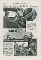 1939 Magazine Article Studebaker Champion New Features of Car Lightweight Auto