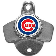 Chicago Cubs MLB Baseball Wall Mount Metal Pub Bar Bottle Opener - New